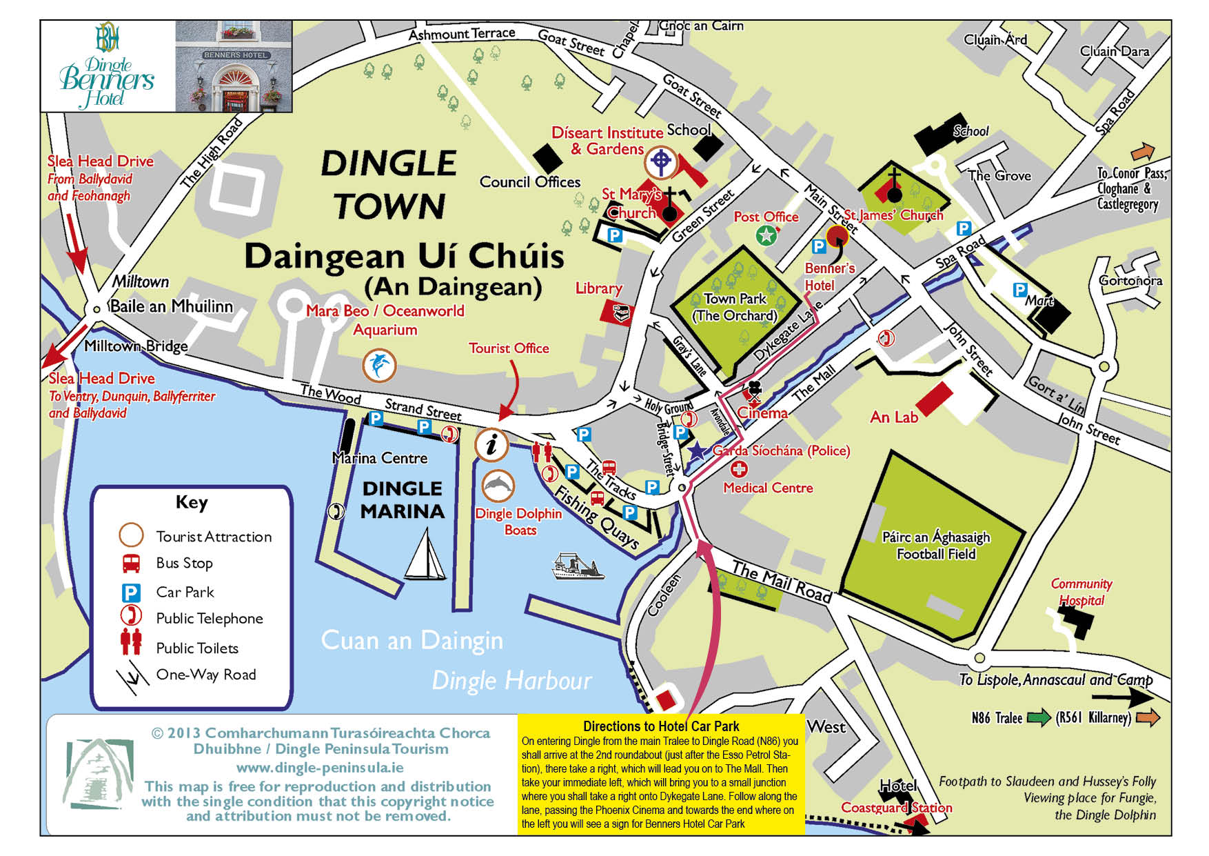 Map Of Ireland Showing Dingle.Dingle Hotels Hotel In Dingle Dingle Benners Hotel Kerry